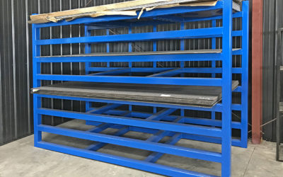 We need to keep our shop organized, so we build racks to hold all types of metal. We can do the same for you. Tell us what you need to store, and we'll fabricate it, paint it and make your life easier to manage.