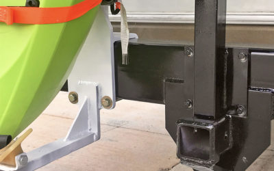 For a recreational camper, we fabricated and installed a stronger bumper so it could hold the weight of two kayaks and their racks. We also fabricated and mounted a new receiver hitch.